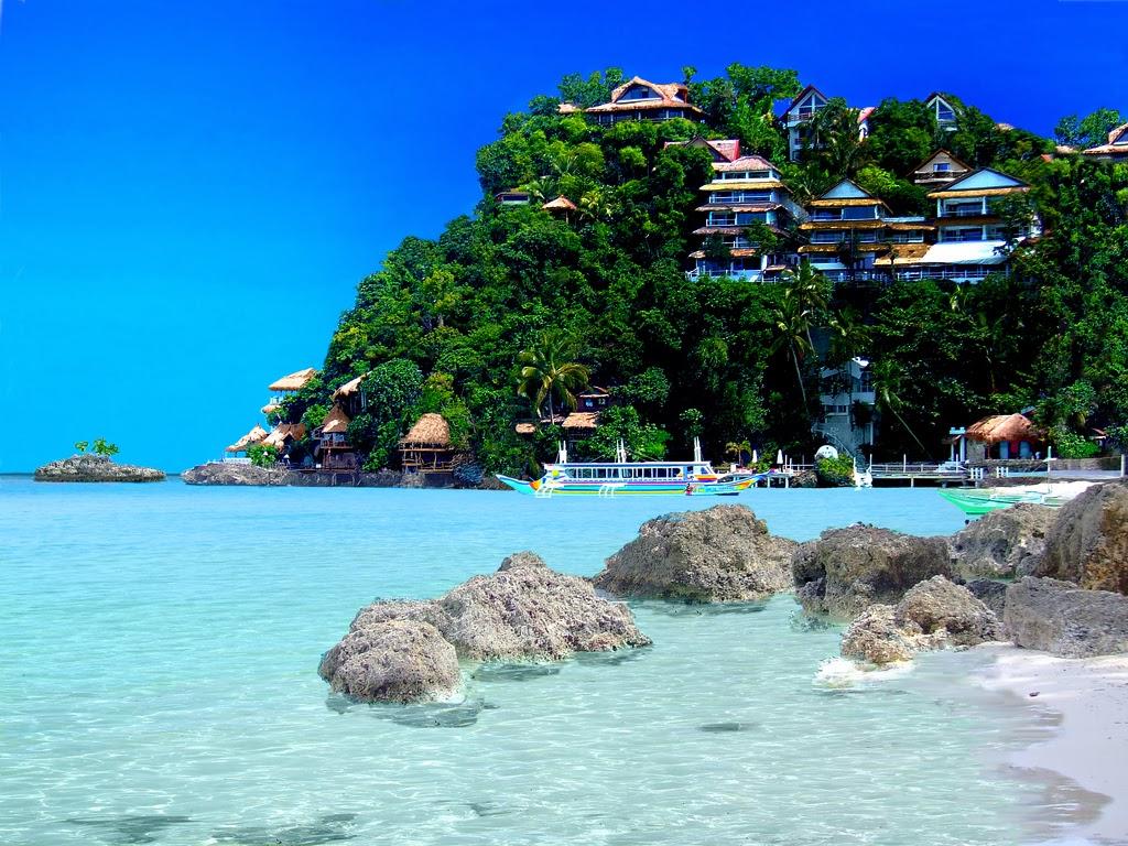 beach island island view desktop wallpapers boracay island 1024x768