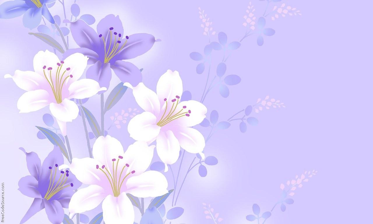 Purple Flower Background Wallpapersafari