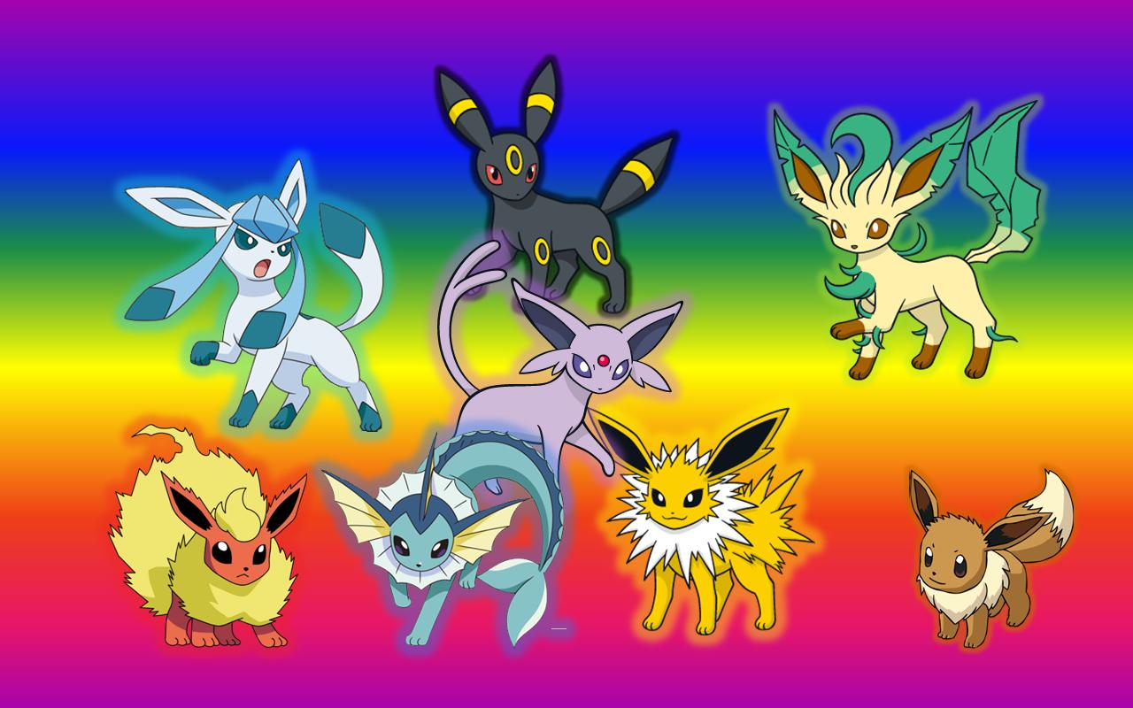 Eevee Pokemon Evolutions Wallpaper by NatuTorchic 1280x800