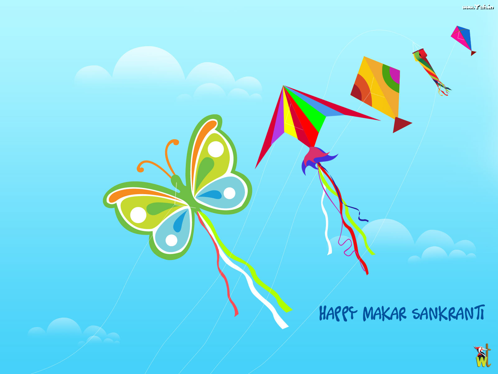Kite Happy makar sankranti wallpaper Urban Art Wallpaper 1600x1200