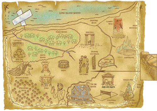 Camp Half Blood images Map of Camp Half Blood wallpaper and background 500x355
