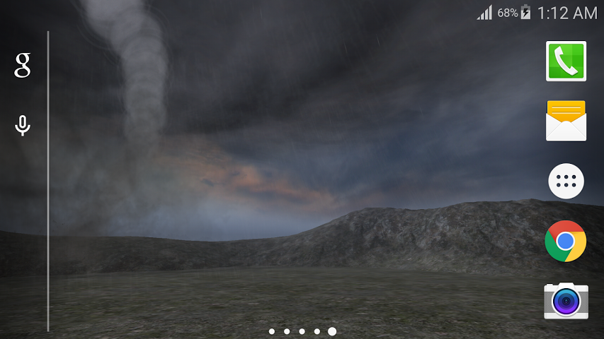 3D Amazing storm and Tornado display in this live wallpaper and 853x480