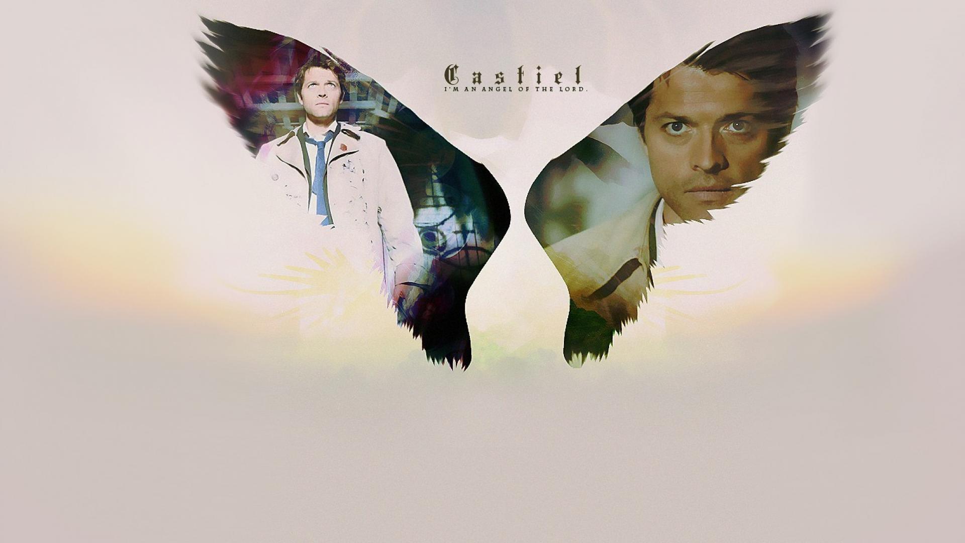 Angels supernatural castiel tv series wallpaper 69029 1920x1080