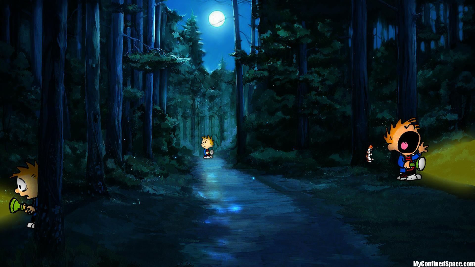 Free Download Calvin And Hobbes Comics Forest Trees Mood G