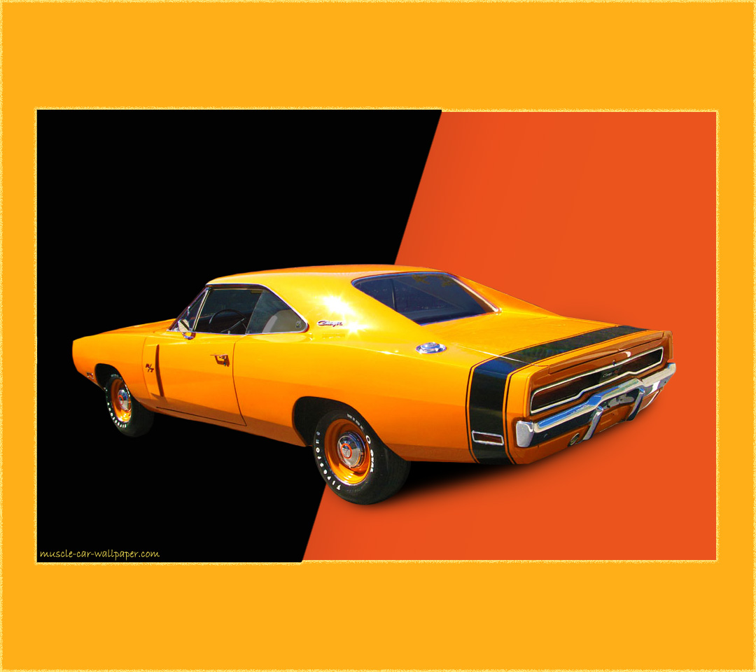 1970 Dodge Charger RT Wallpaper   Orange Hardtop   Left Rear View 1080x960