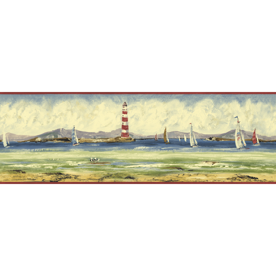 Sunworthy 6 78 Seashore Prepasted Wallpaper Border 900x900