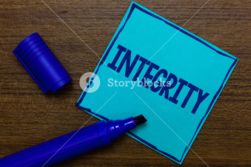 Writing note showing Integrity Business photo showcasing quality 1000x667