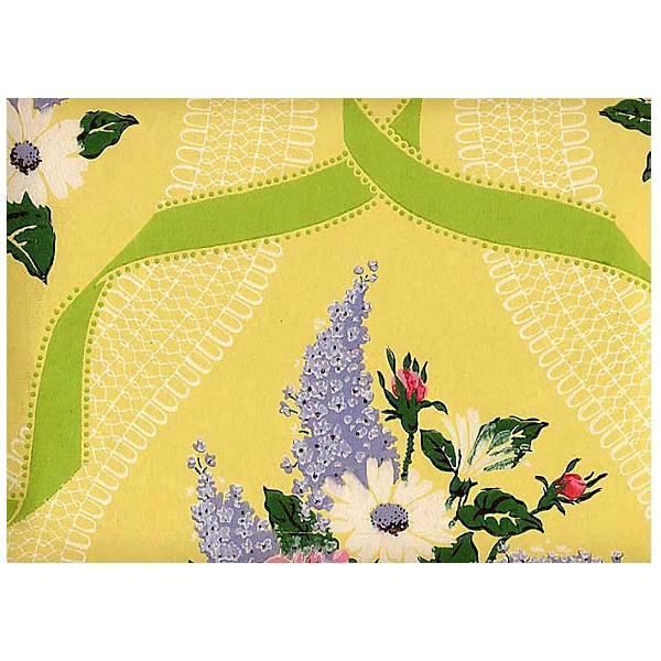 One Kings Lane Yellow Floral Wallpaper 60 Sq Ft liked on 600x600