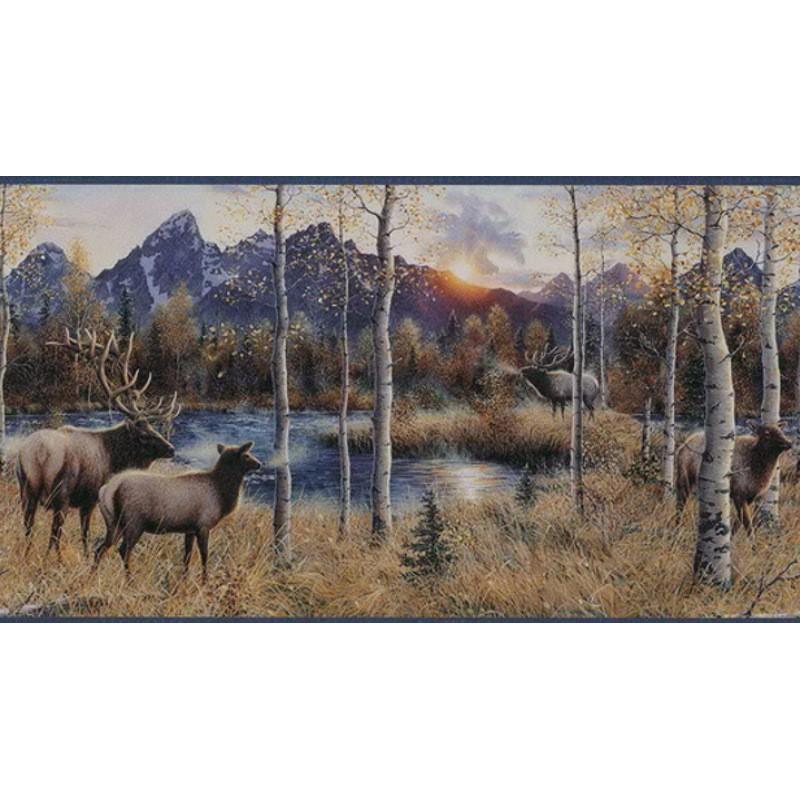 Wallpaper Border Animals Nature Elk River Border 800x800