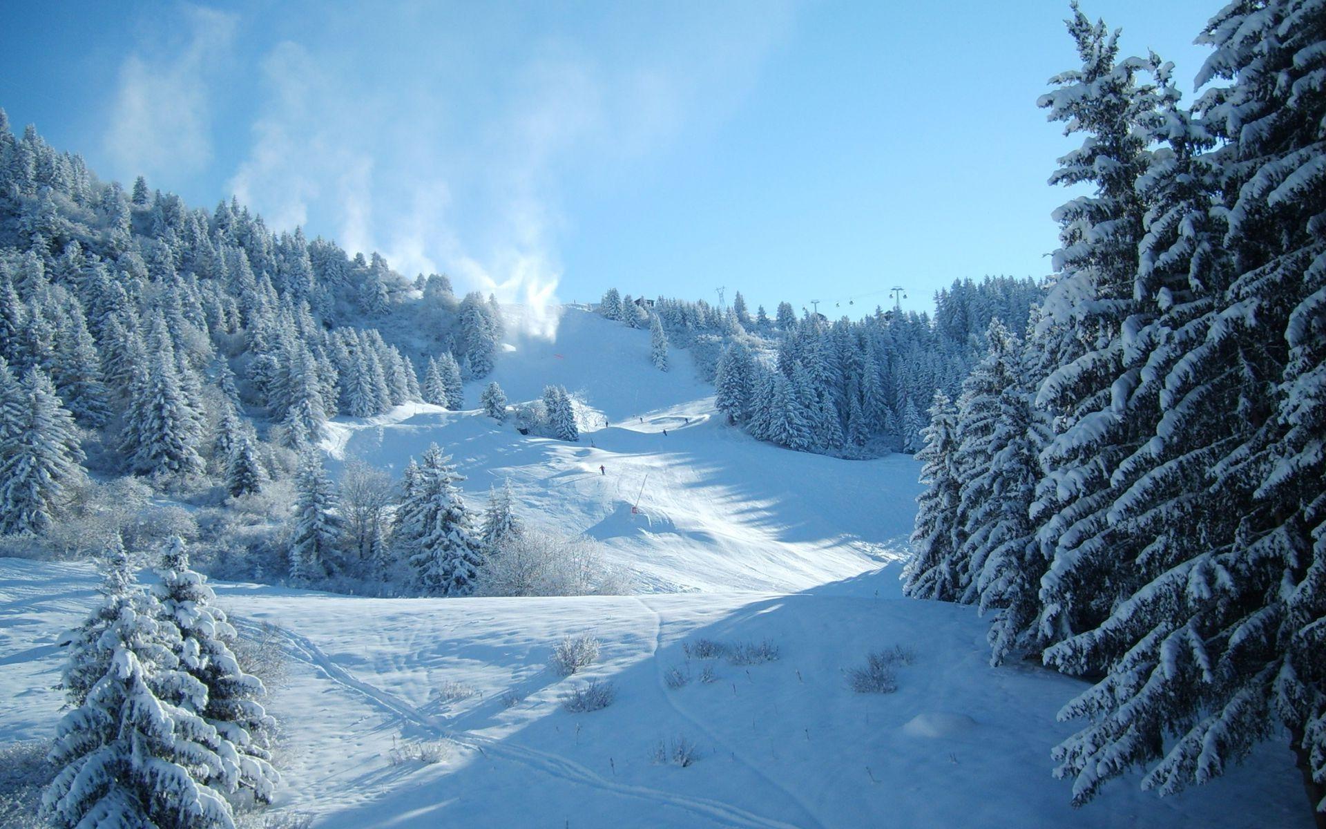 Ski slope wallpaper 17044 1920x1200