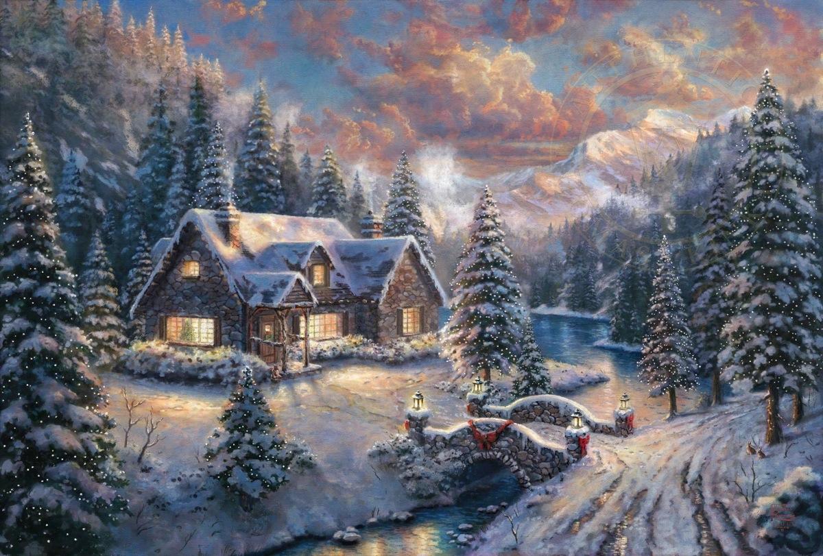 High Country Christmas The Thomas Kinkade Company 1200x811