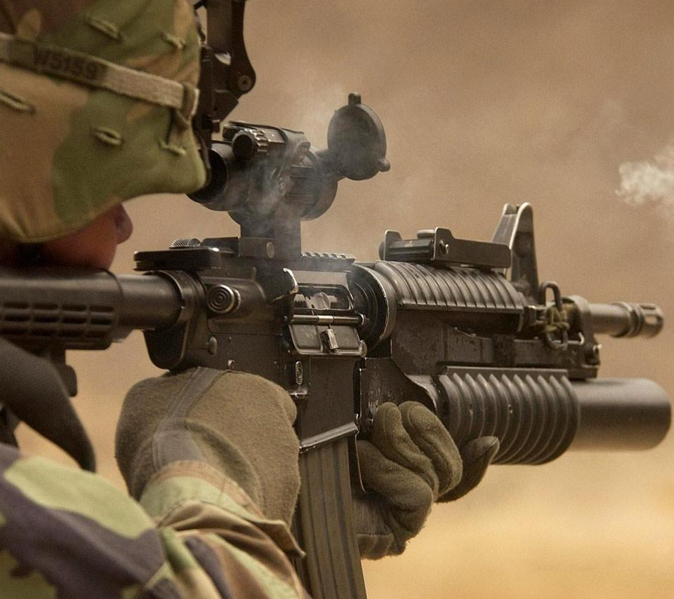 m16 gun wallpaper desktop - photo #35