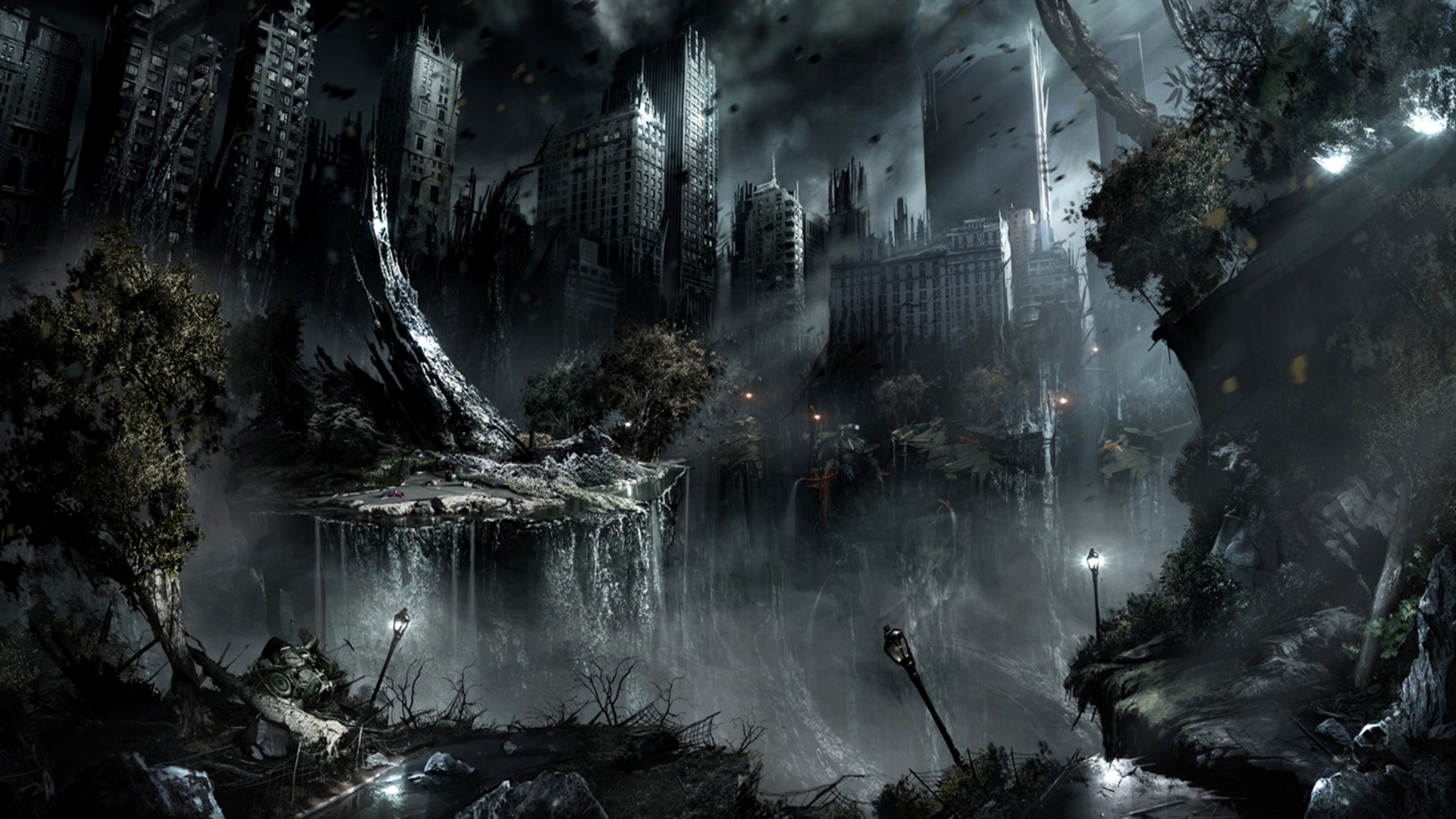 Apocalypse Fantasy Art Science Fiction Cities New Hd Wallpaper 1920x1080