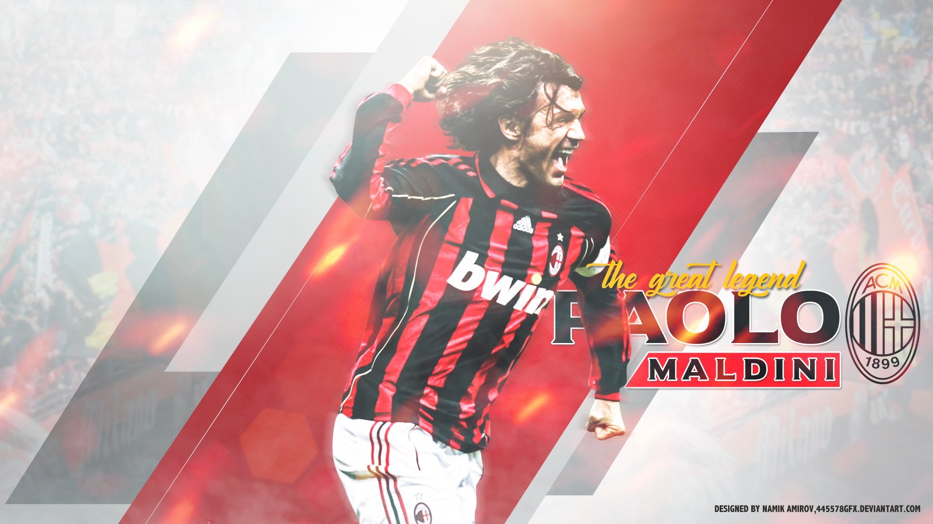 Paolo Maldini   Milan Legend HD Wallpaper Background Image 1920x1080