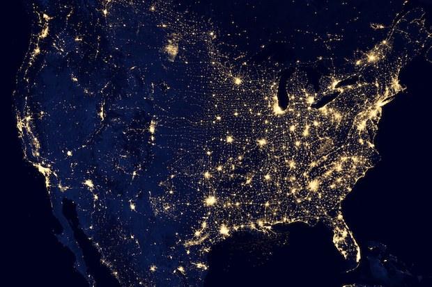 NASA image of USA at night 620x413