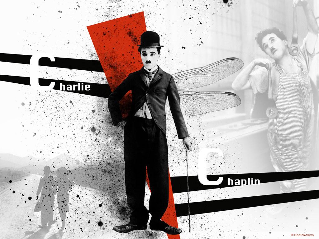 Charlie Chaplin Wallpaper Property of doctormacrocom and Flickr 1024x768