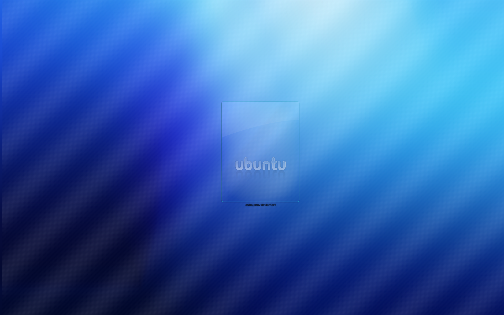 Blue Ubuntu wallpaper   3070 1920x1200