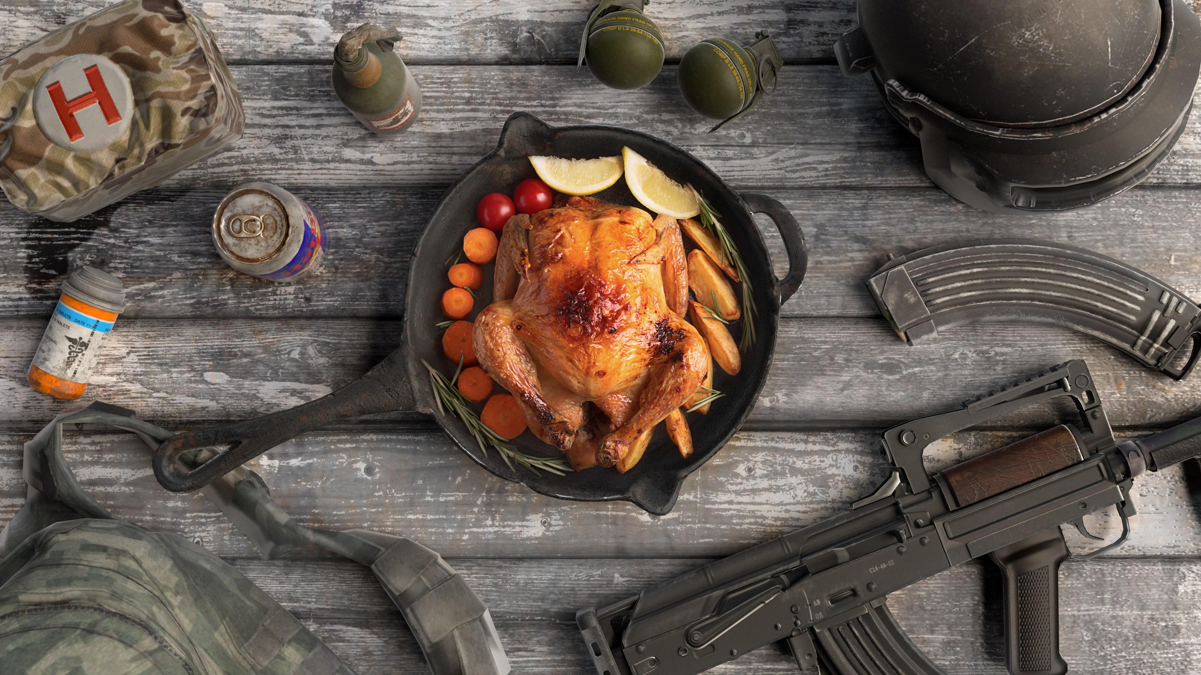 PUBG Chicken Dinner Wallpaper   PUBGHQ 3840x2160