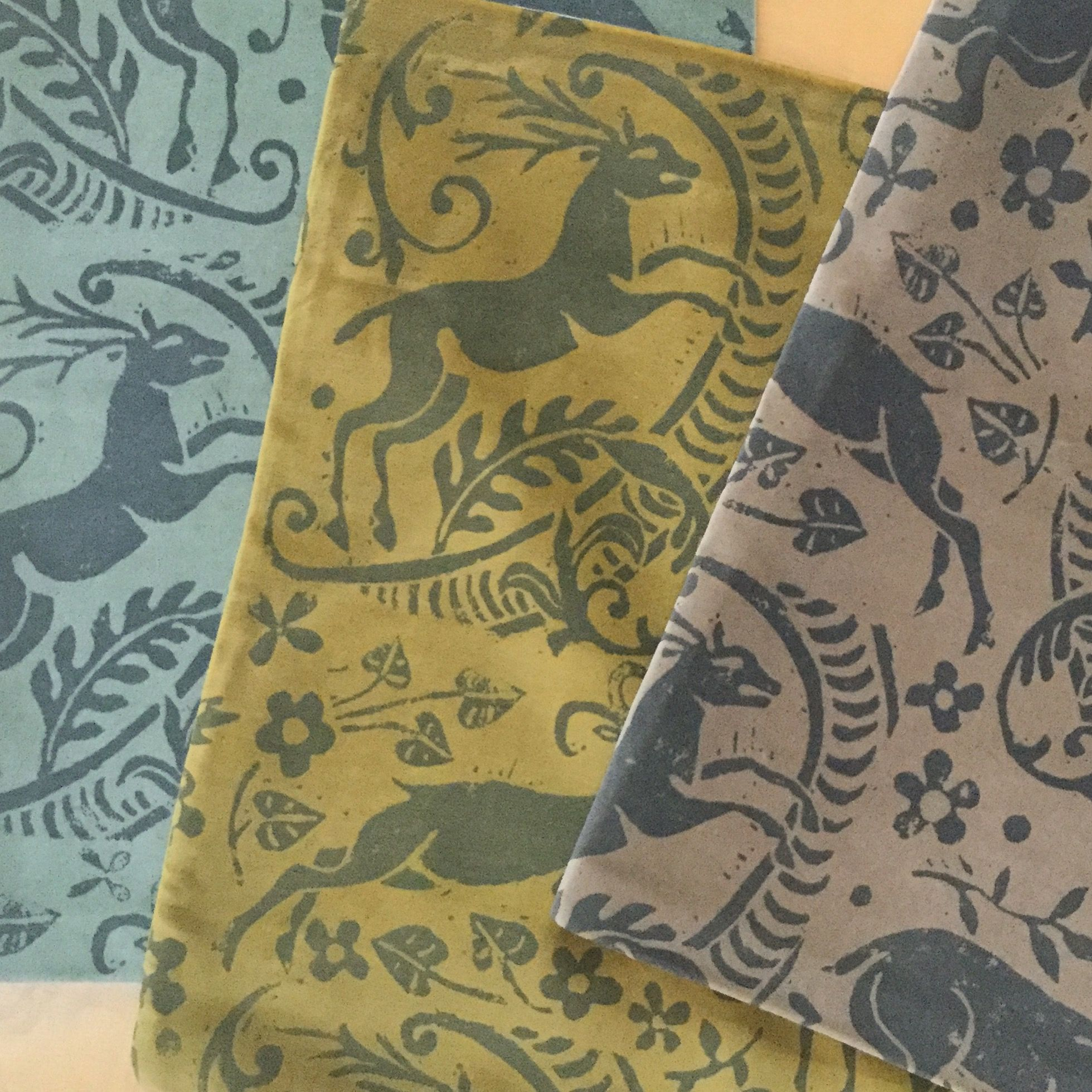 We hand silkscreen our fabrics wallpapers in England Shown here 1959x1959