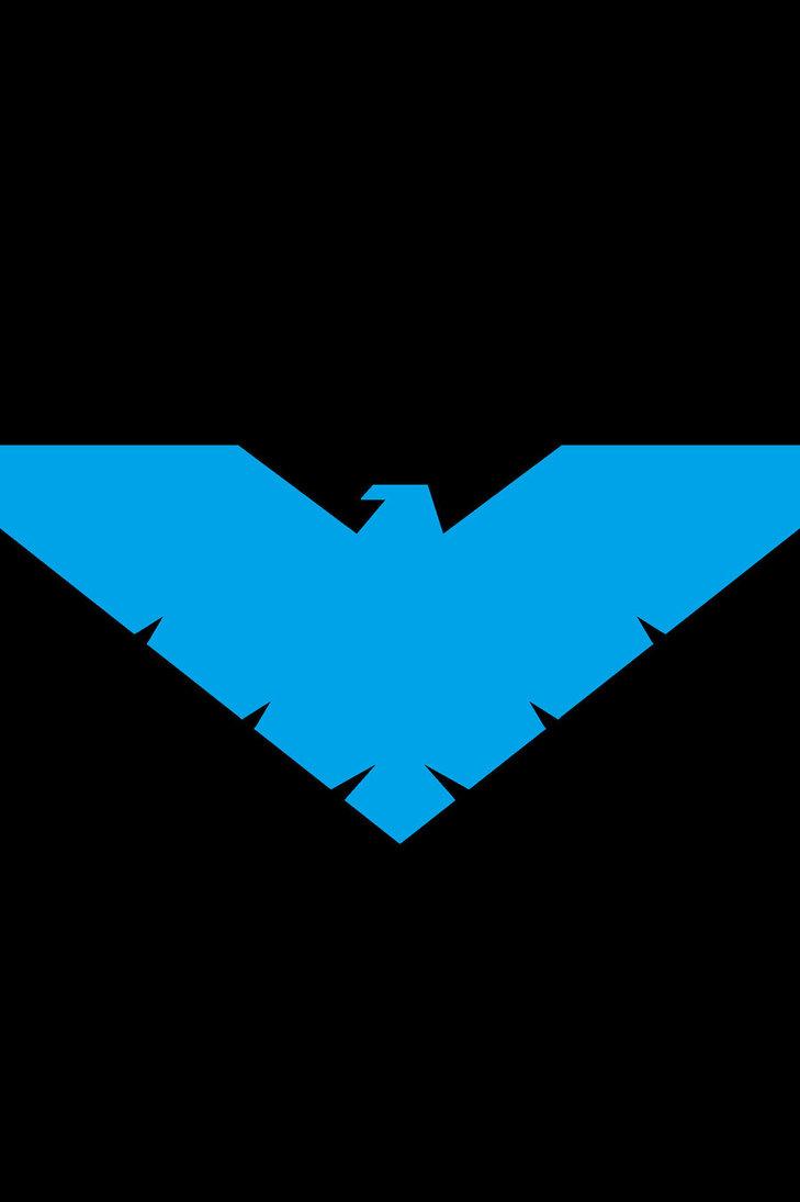 Nightwing   Batman Logo Wallpaper 729x1095