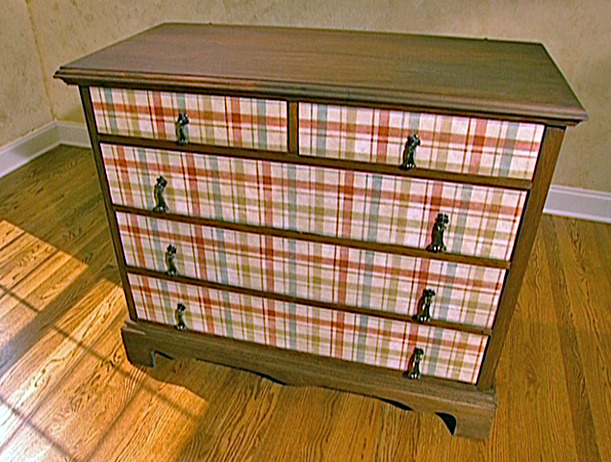 How To Update Old Furniture with Decoupage 611x462