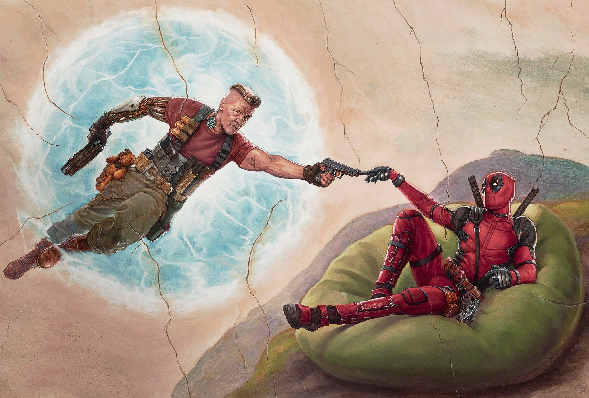 Deadpool 2 Poster Artwork 2018 Movie Wallpapers 2048x1384
