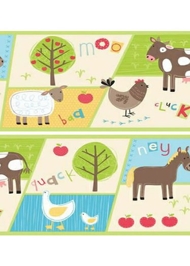 Childrens Rooms Farm Farm Wallpaper Border 374x524