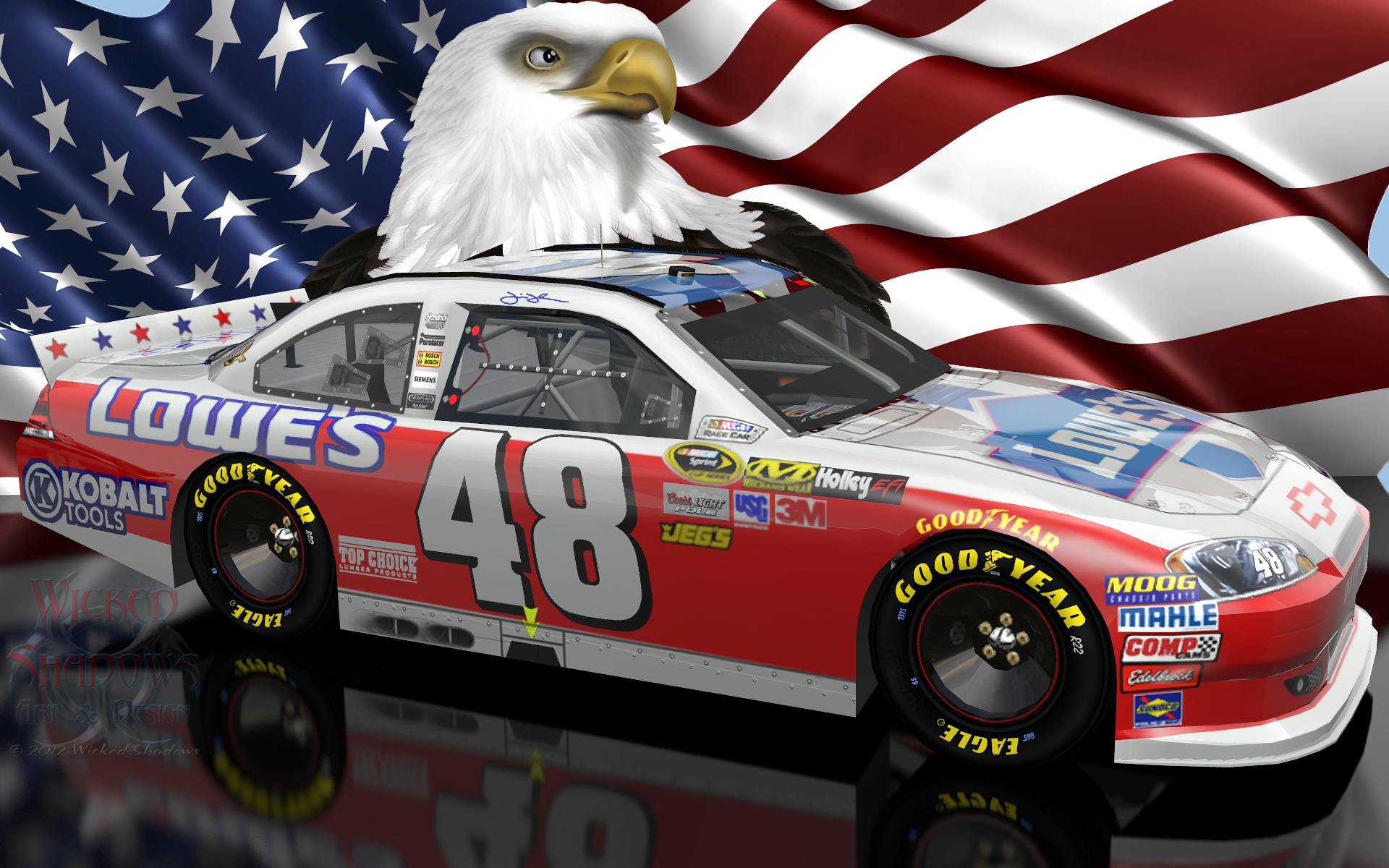 Jimmie Johnson NASCAR Unites Patriotic Wallpaper Download 1920x1200