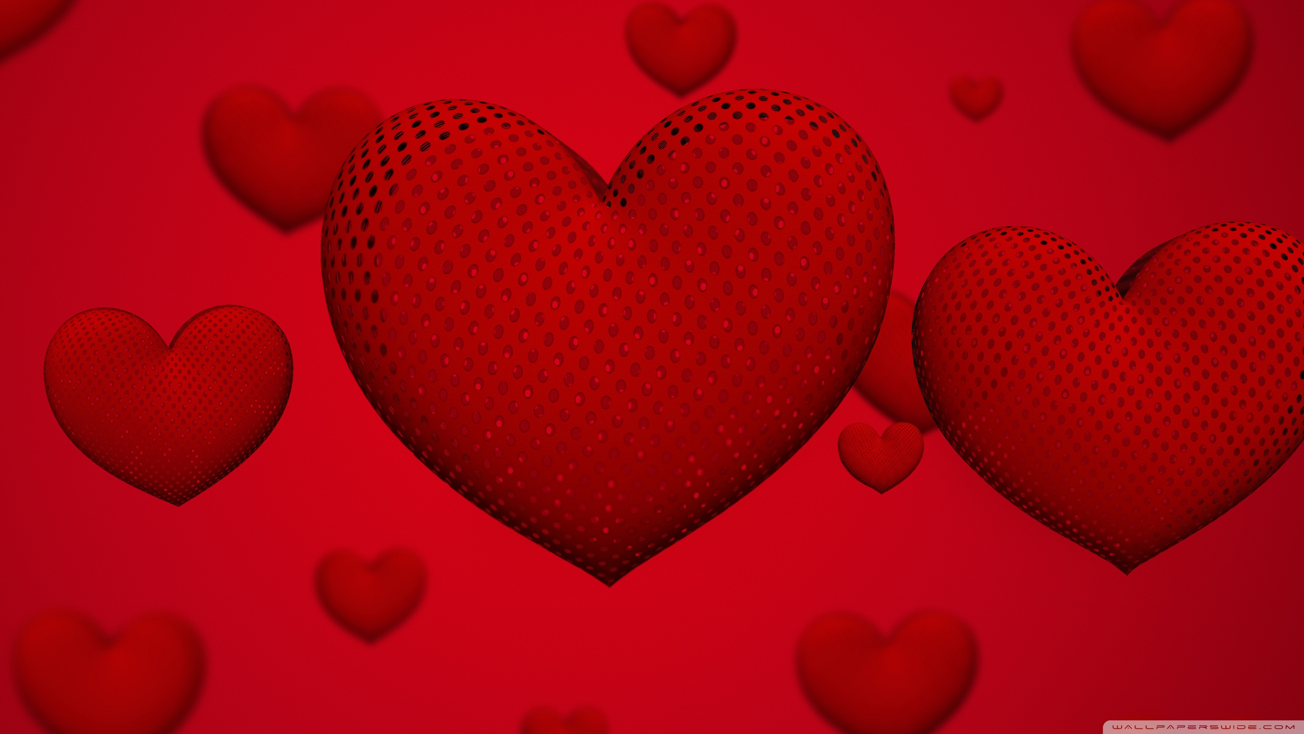 Valentines Day Hearts Ultra HD Desktop Background Wallpaper for 2560x1440