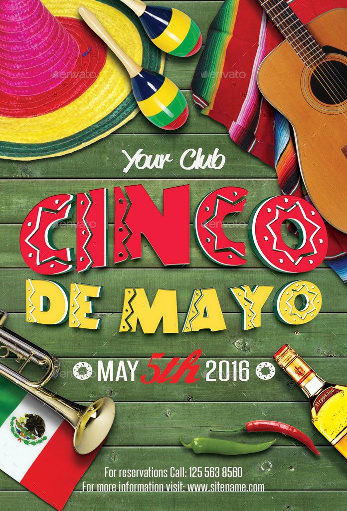 Cinco De Mayo Party Flyer by oloreon GraphicRiver 696x1024