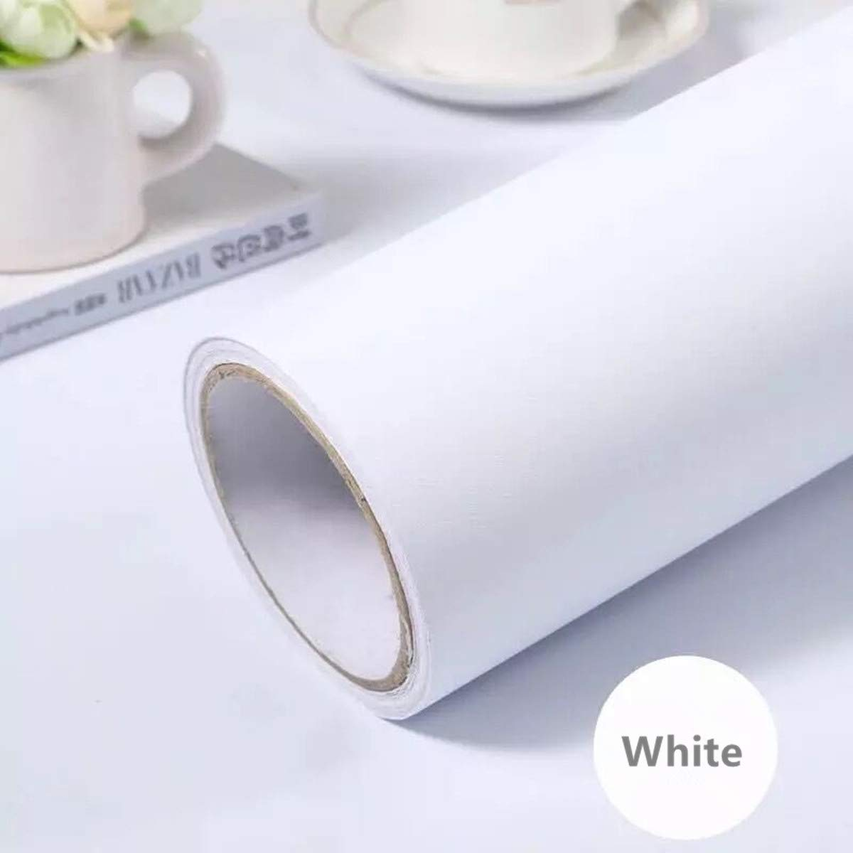 Amazoncom practicalWs White Self Adhesive Wallpaper Film Stick 1200x1200