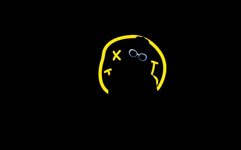 1440x900 music nirvana kurt cobain smiley face rock music alternative 1440x900