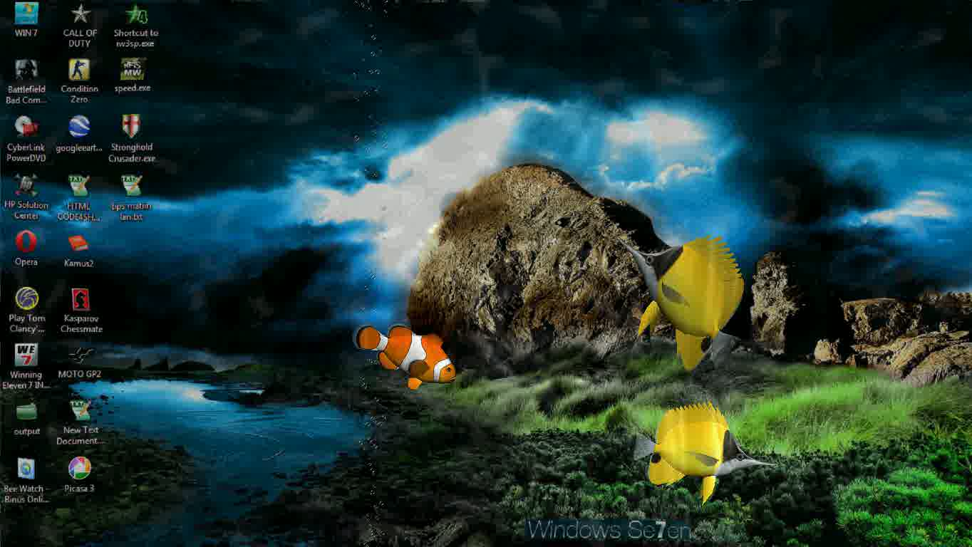 something fishy 3d desktop aquarium screen saver real time 3d fish 1364x768