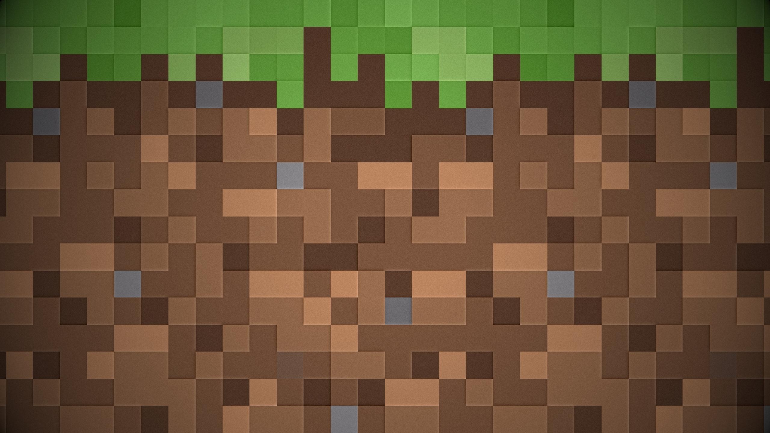 pixels dirt minecraft 1920x1080 wallpaper Miscellaneous HD Wallpaper 2560x1440