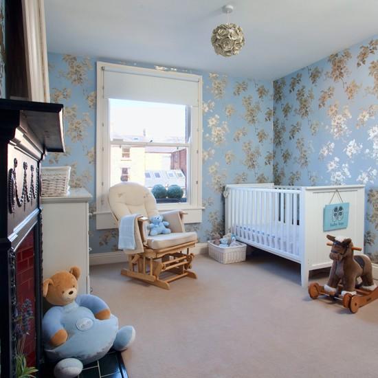 Pale blue nursery | childrens room | Ideal Home | Housetohome