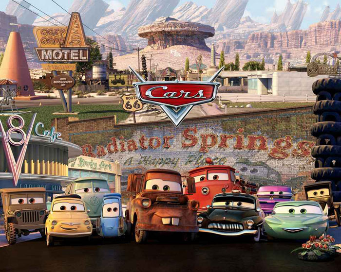 Cars2006 an American feature length animated film a 700x560