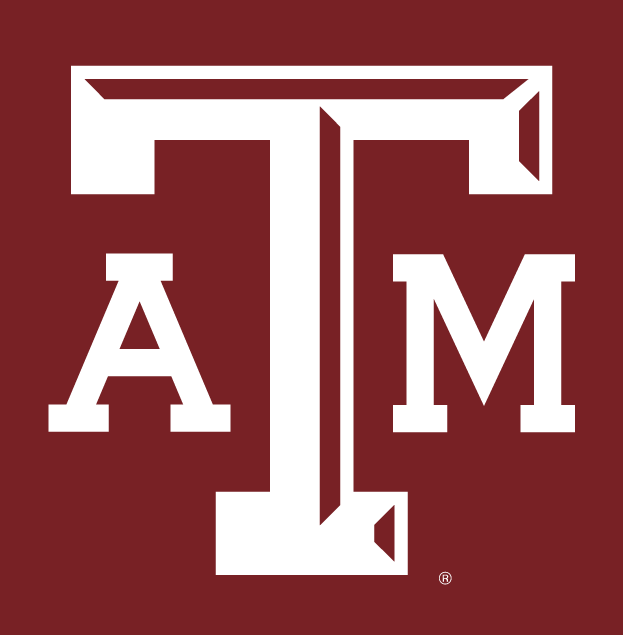 Texas AM Aggies Alternate Logo 2001   White ATM letters with maroon 623x635
