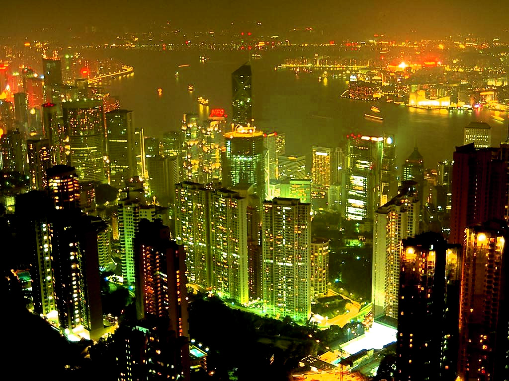 Landscape Wallpapers City At Night Wallpaper 1024x768