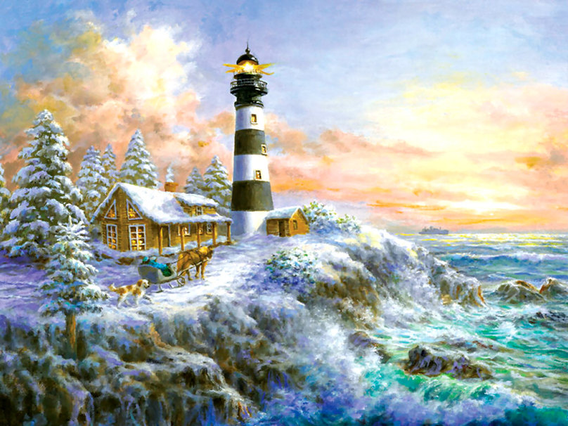Winter Majesty   Lighthouse wallpaper   ForWallpapercom 808x606