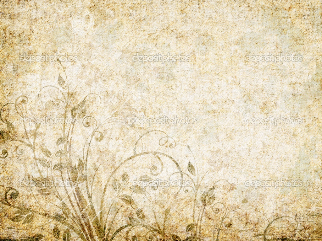 Classic Vintage Wallpaper: Antique Flower Wallpaper
