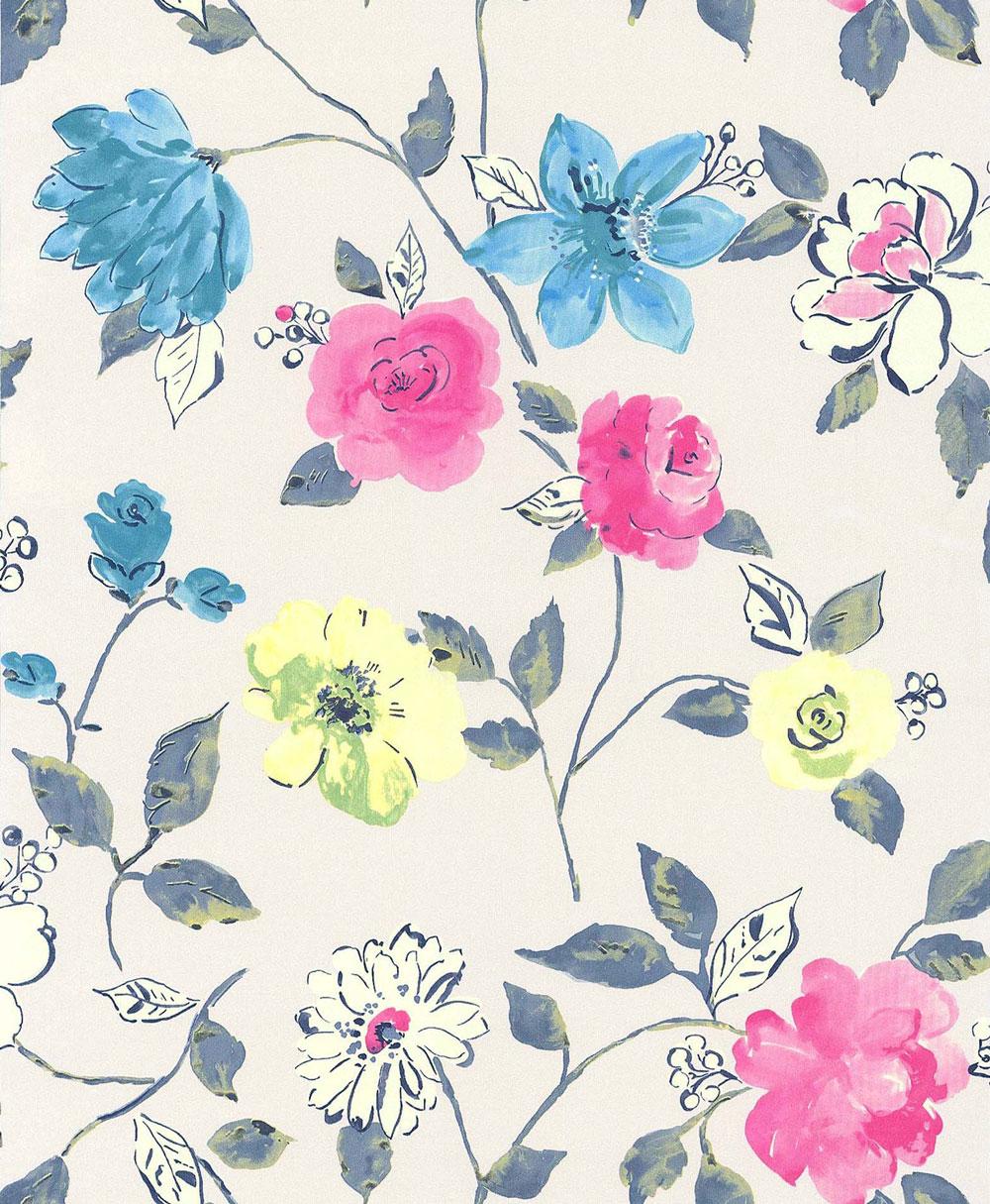 47 Bold Flower Wallpaper On Wallpapersafari