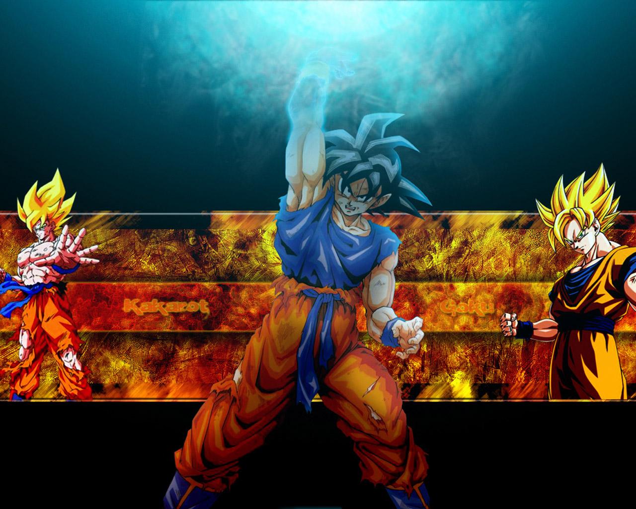 Download the Dragonball anime wallpaper titled Goku 1280x1024