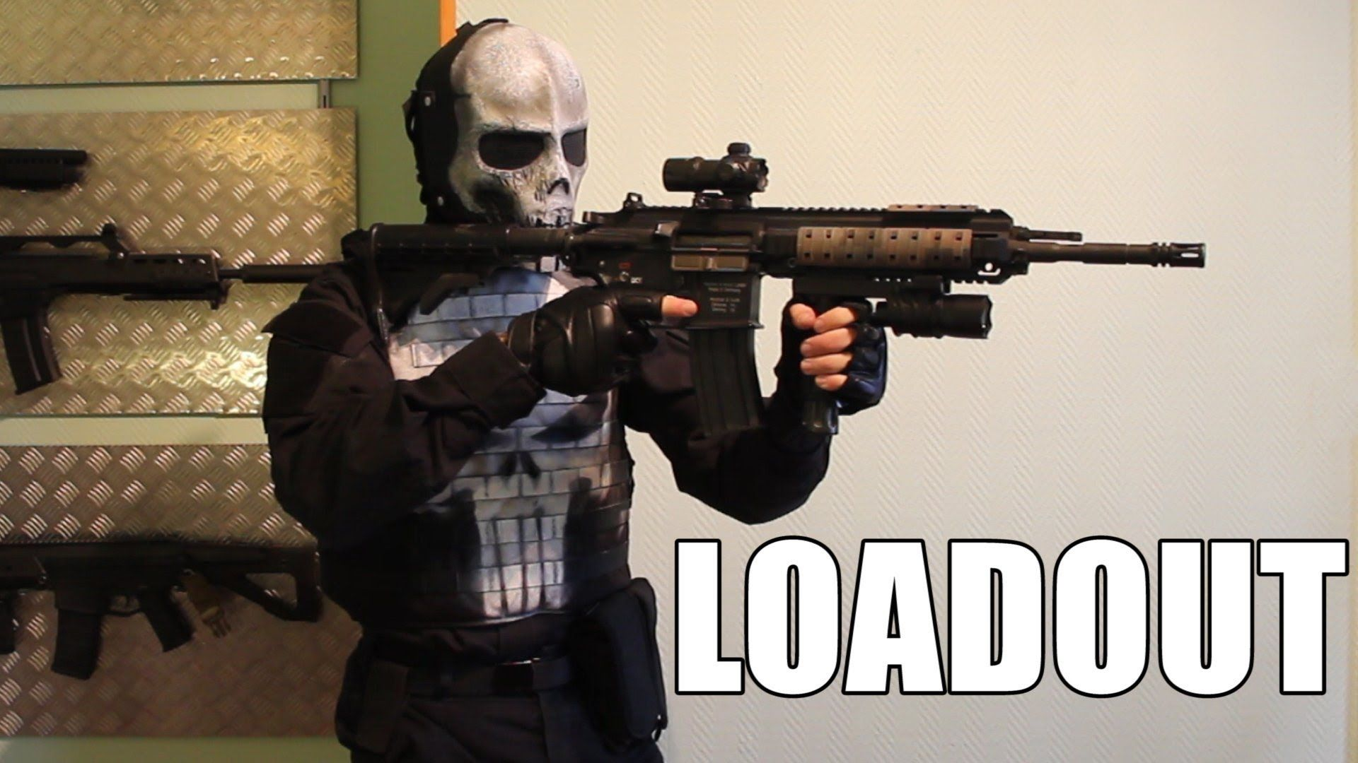 Punisher airsoft loadout Punisher Airsoft Firearms 1920x1080