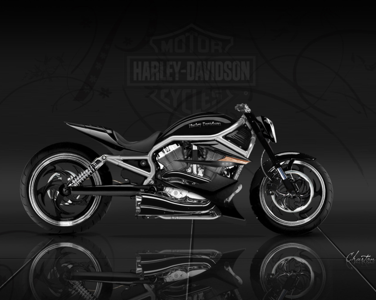 Harley Davidson Motorcycles Wallpapers Risen Sources 1280x1024