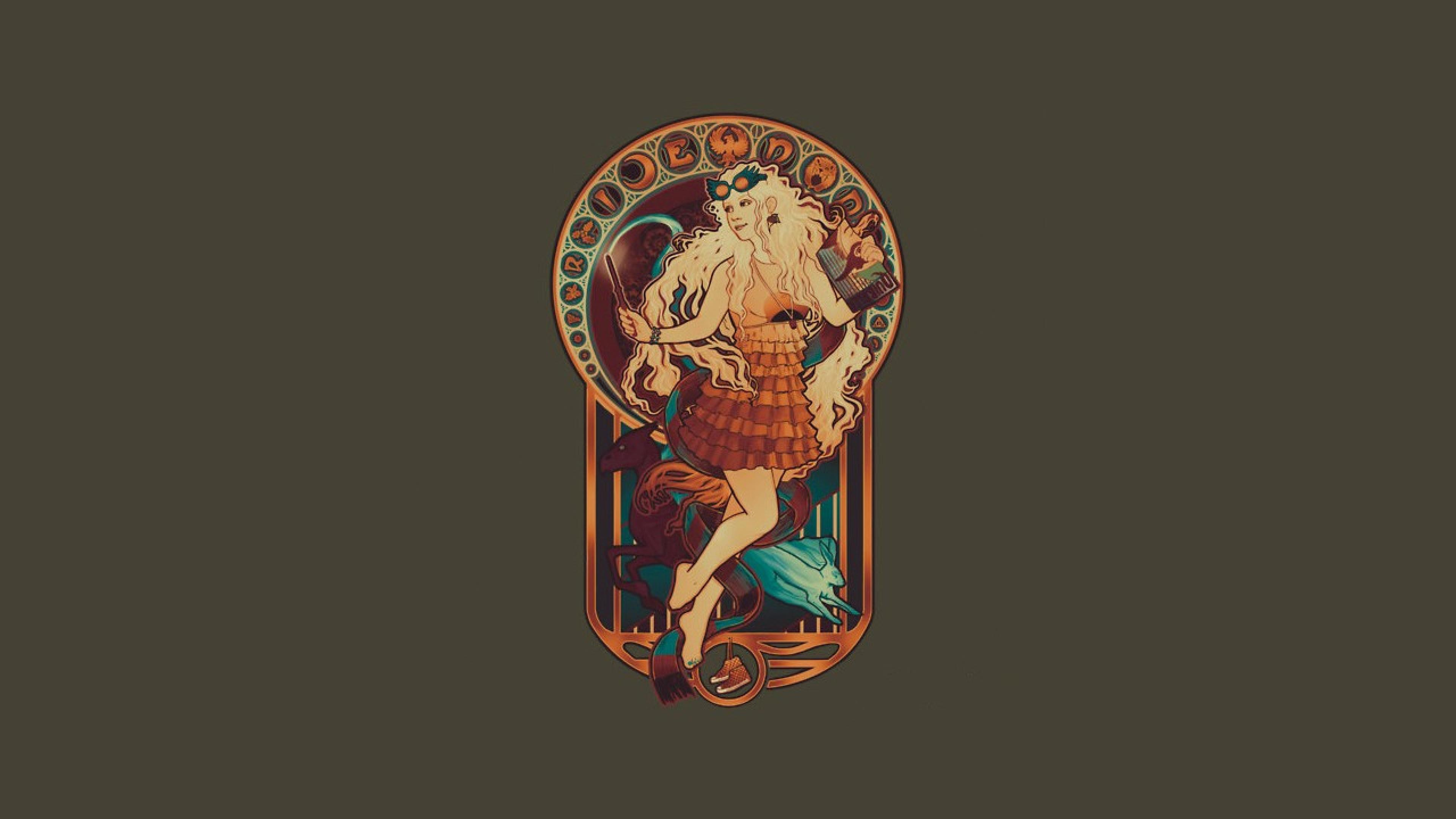Free Download Harry Potter Luna Lovegood Art Nouveau Ultra