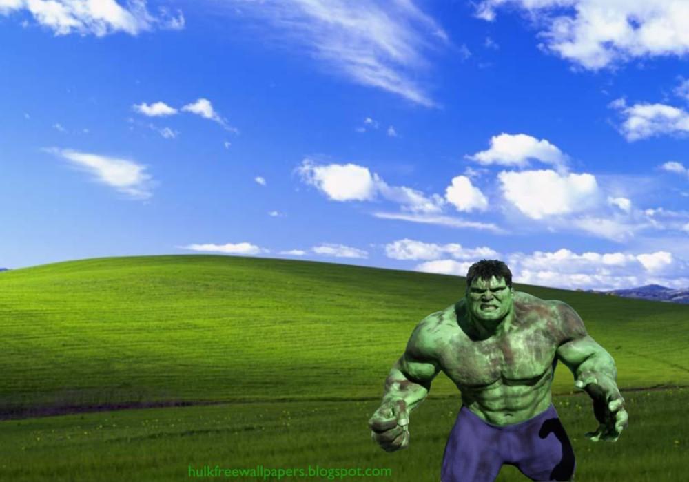 Desktop Wallpaper of The Incredible Hulk Fighting Monster in 1000x700