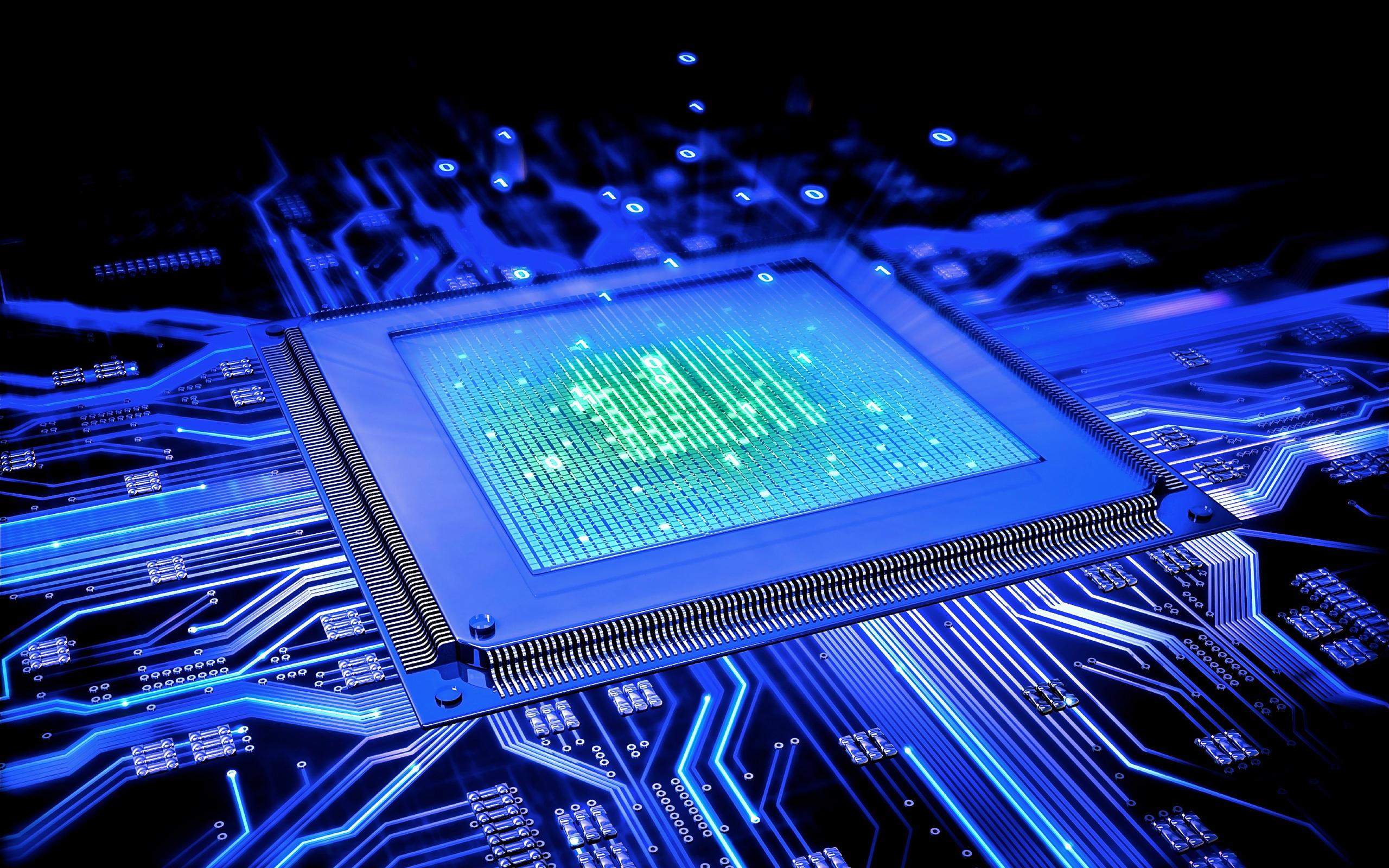 Blue Computer Cpu 2560 x 1600 2560x1600