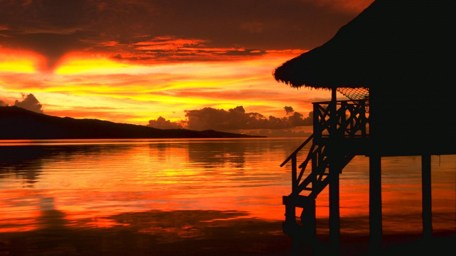 Beautiful Wallpapers: beach sunset wallpaper