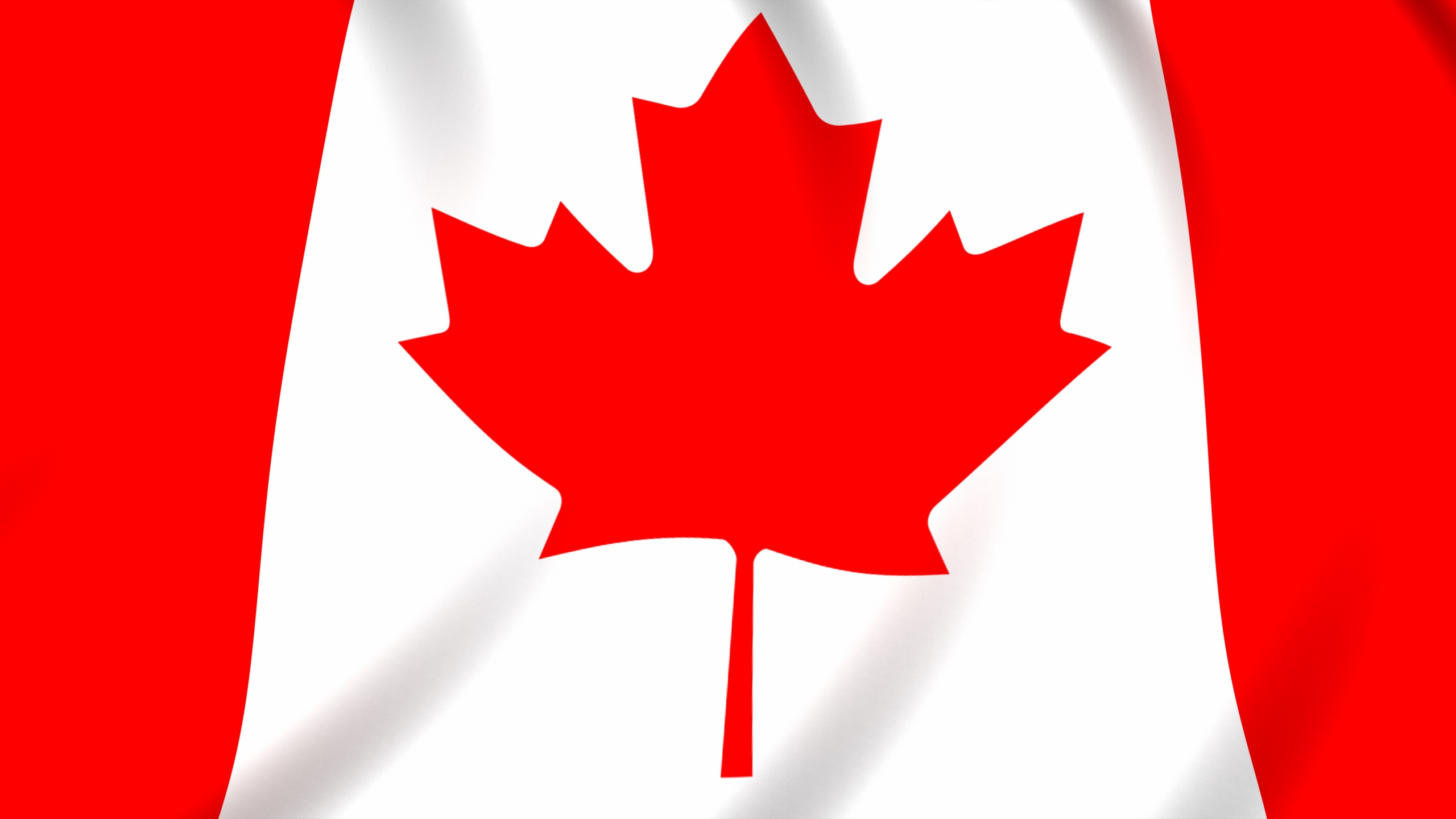 Canada flag wallpaper in 2560x1440 screen resolution 2560x1440