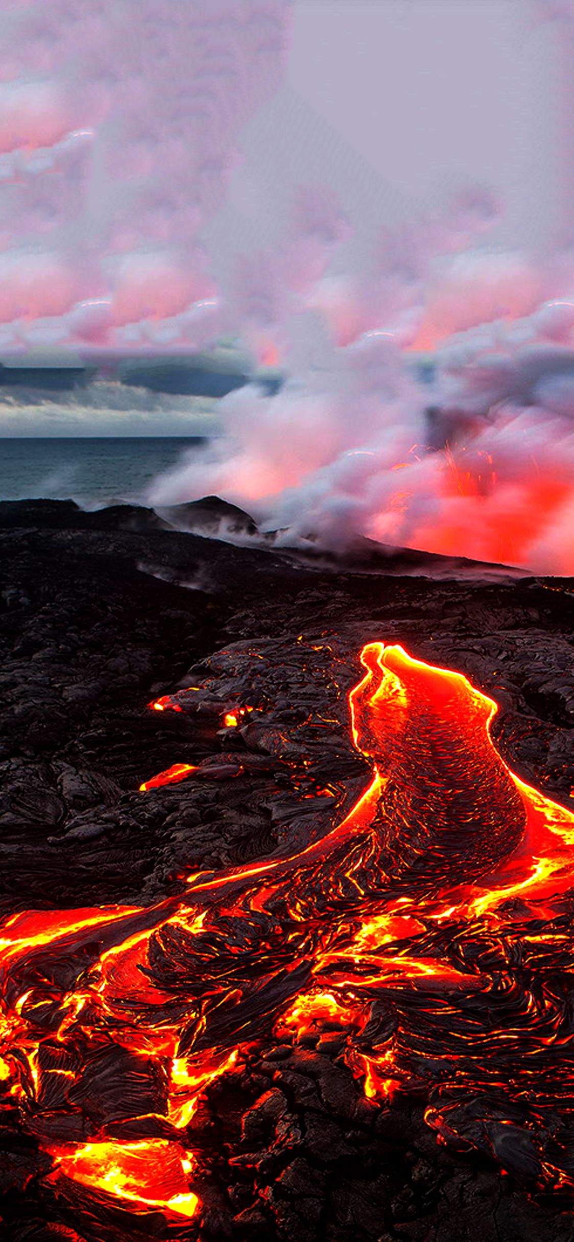Best volcano wallpaper for iPhone x iOSwall Rugs Carpets 1124x2432